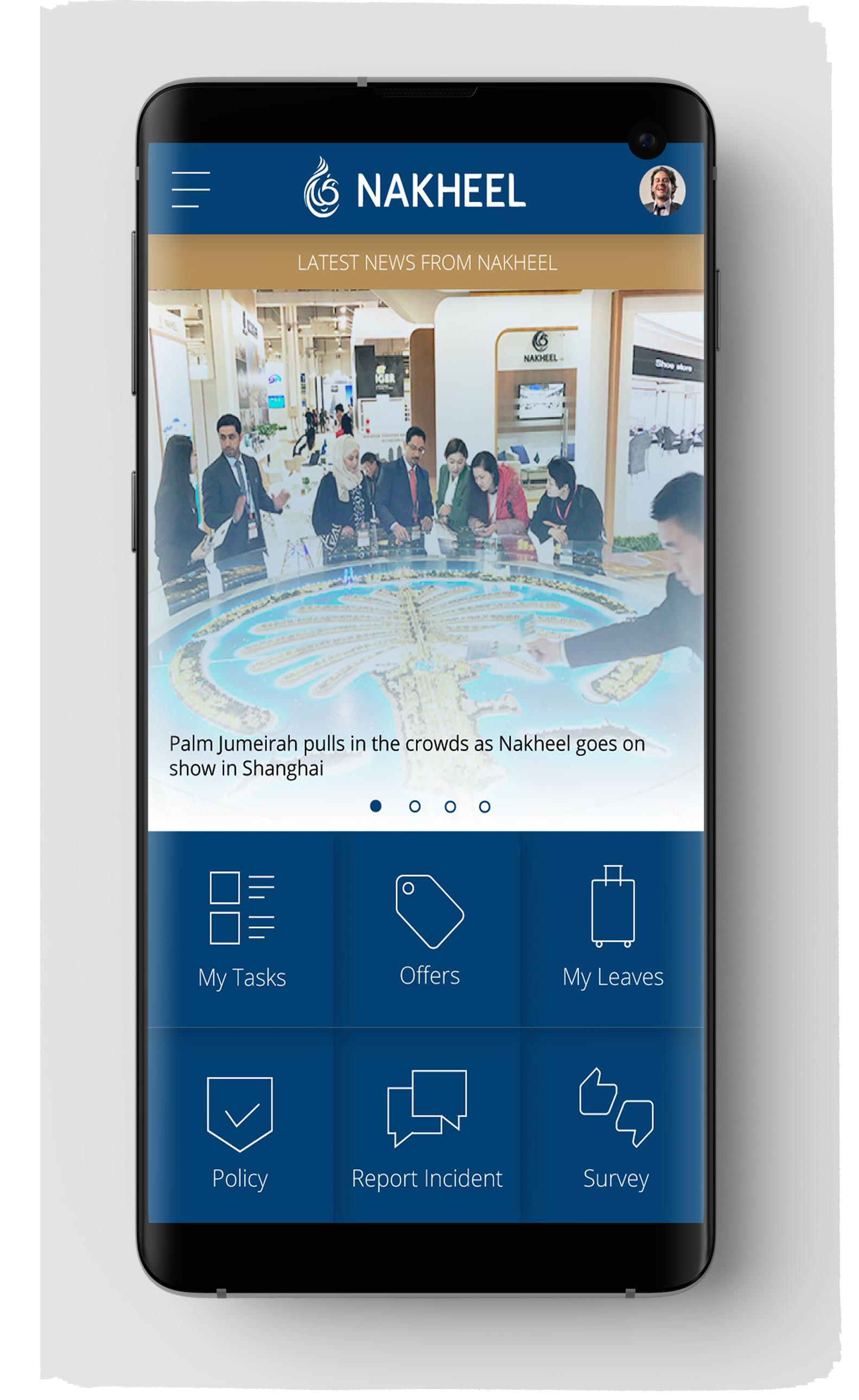 Nakheel App Launcher